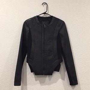 Bcbg maxazria Peter Black motorcycle jacket xs
